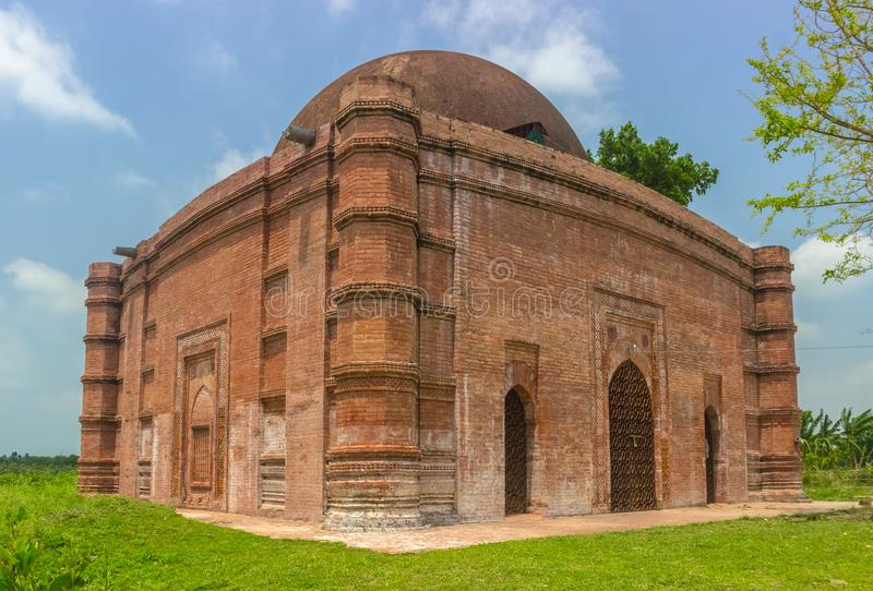 Nungola moské, Barobazar, Jhenaidah, Bangladesh royaltyfri foto