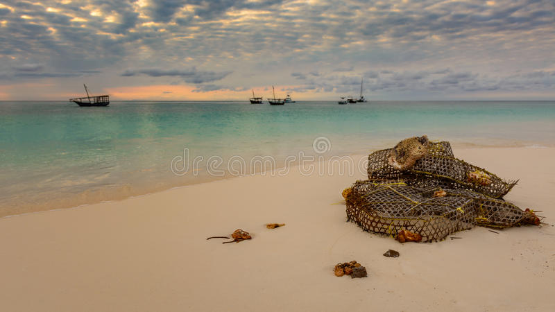 Nungwi beach. A nice view of nungwi beach situated at north of zanzibar,Tanzania royalty free stock photo