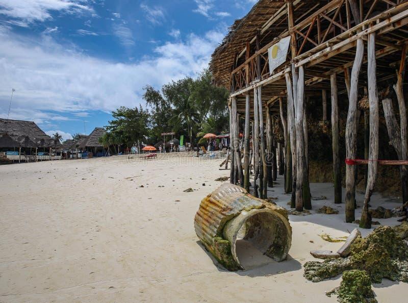 Nungwi plaża Zanzibar obrazy stock