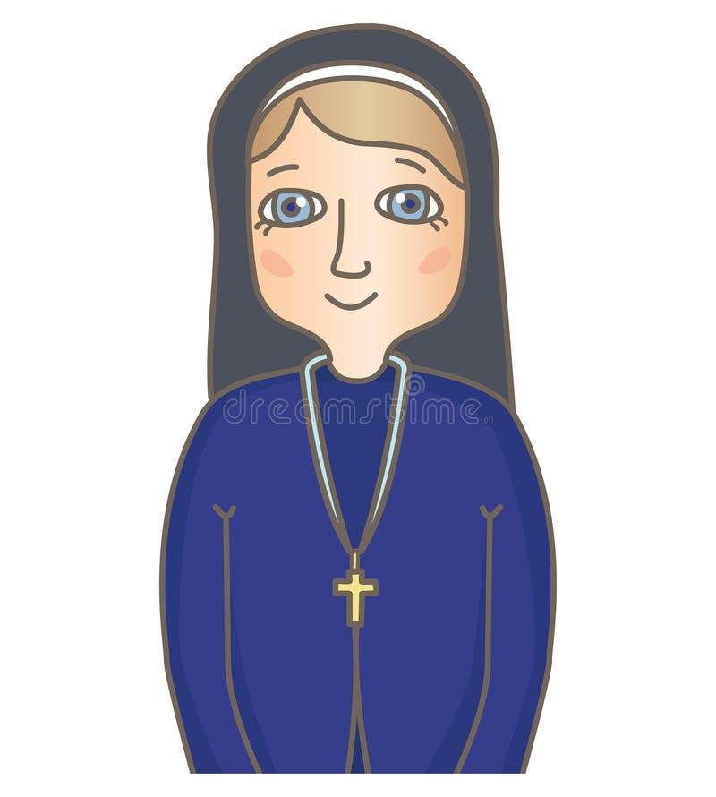nunna vektor illustrationer
