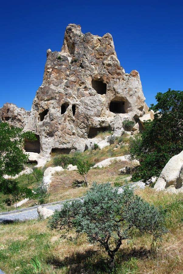 Nunnery in Goreme (Cappadocia, Turchia) immagine stock
