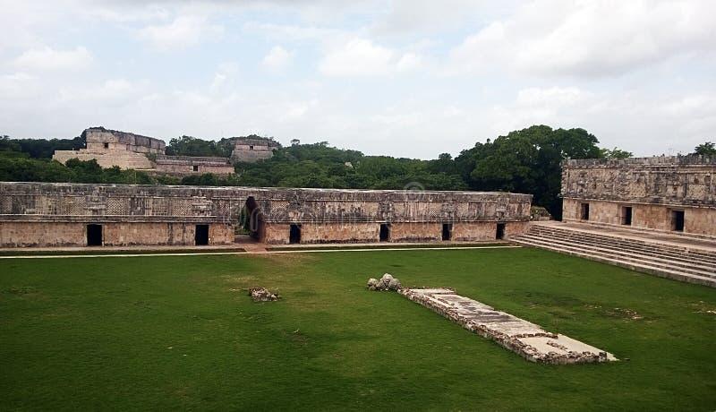 Nunnery quadrangle. The maya ruins called nunnery quadrangle at uxmal in mexico royalty free stock image