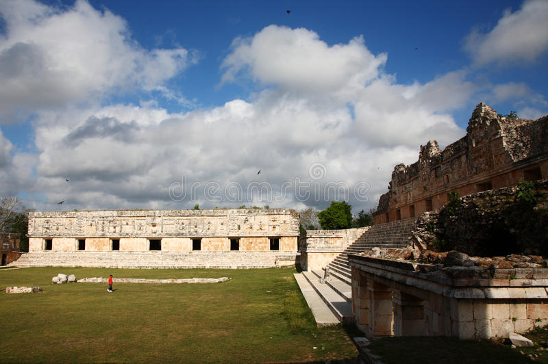 Nunnery Quadrant, Uxmal, Mexico Royalty Free Stock Photography