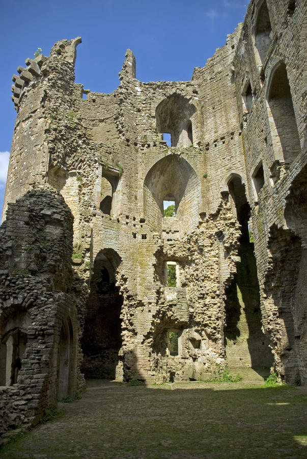 nunney замока стоковое изображение rf