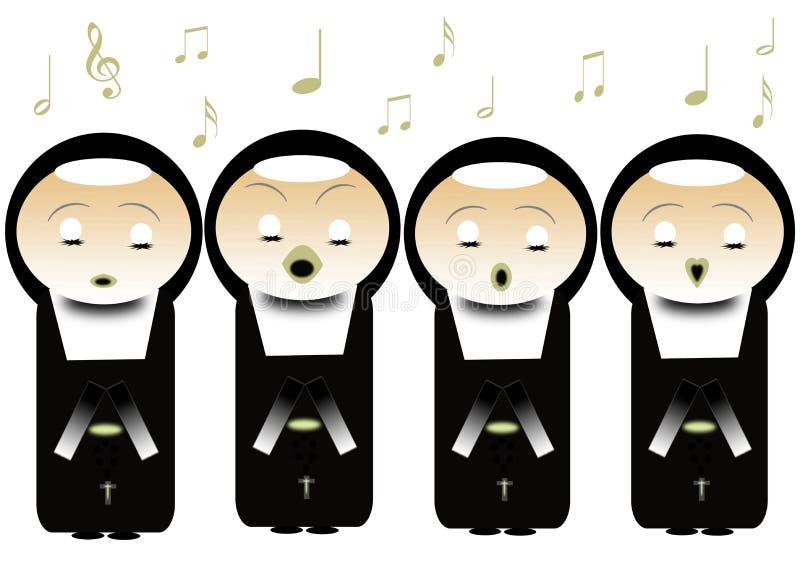 Download Nuns stock illustration. Illustration of monastery, music - 17588975