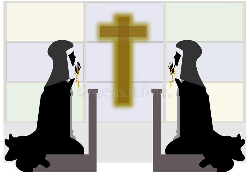 Download Nuns stock illustration. Image of convent, shrine, catholic - 21398198