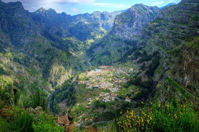 The Nuns Valley Madeira. The pathway that begins at Eira do Serrado down to Curral das Freiras through the Nuns Valley Madeira royalty free stock images
