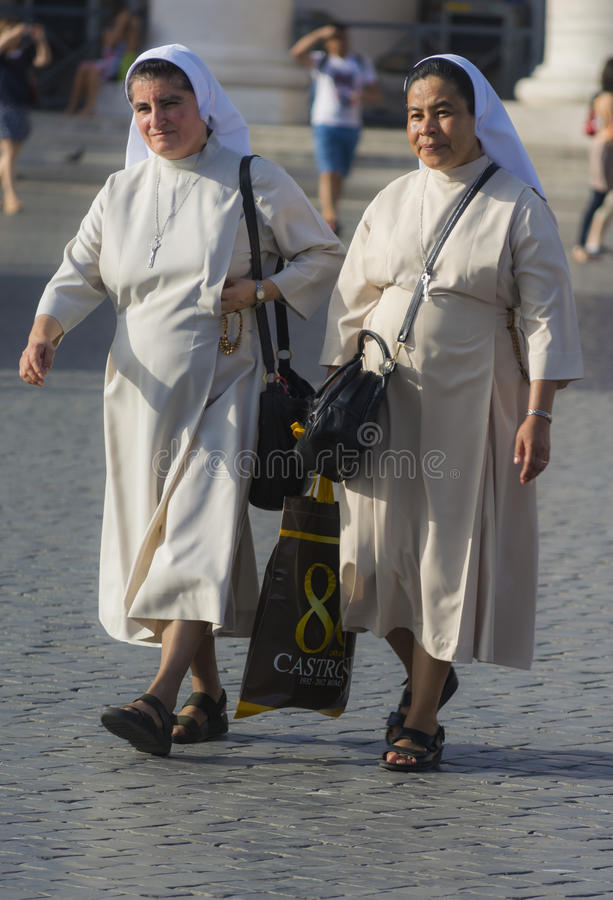 Download Nuns in white dress editorial stock image. Image of walk - 43648524