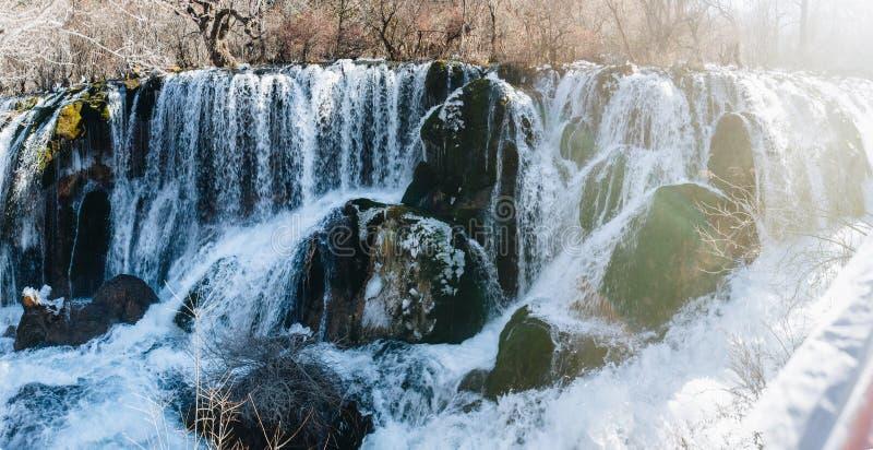 Nuorilang siklawa, Jiuzhaigou rezerwat przyrody fotografia royalty free