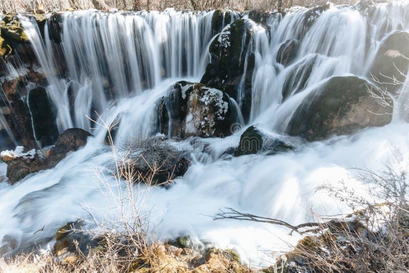 Nuorilang siklawa, Jiuzhaigou rezerwat przyrody zdjęcie royalty free