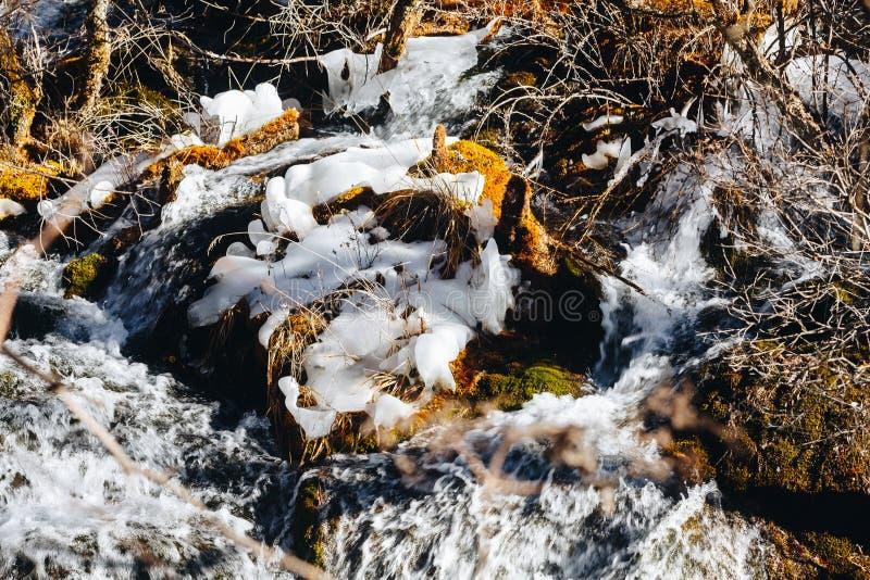 Nuorilang siklawa, Jiuzhaigou rezerwat przyrody obraz royalty free