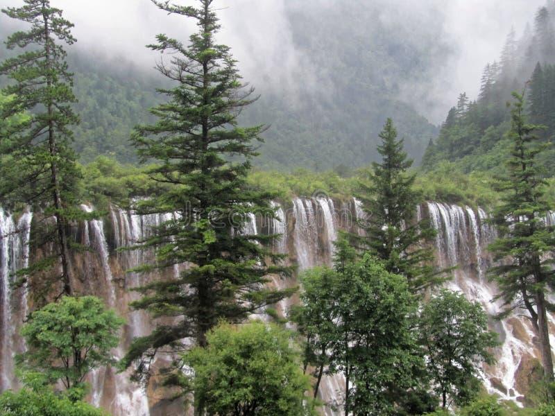 NuoRiLang waterval-Jiuzhaigou-wereld Natuurlijk erfgoed royalty-vrije stock afbeelding