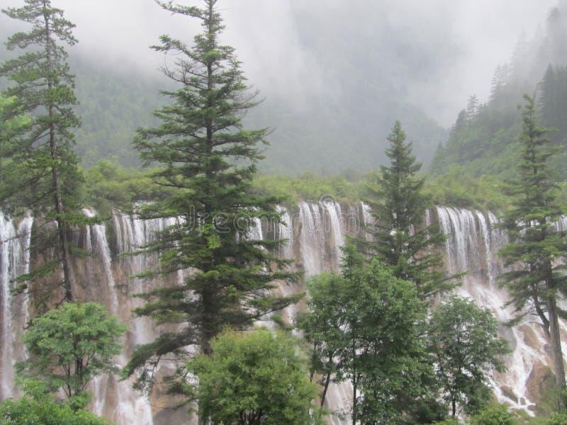 NuoRiLang waterval-Jiuzhaigou-wereld Natuurlijk erfgoed royalty-vrije stock foto