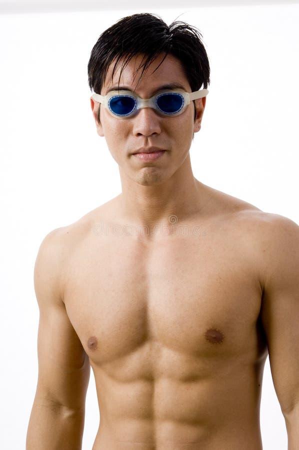 Nuotatore asiatico immagine stock libera da diritti