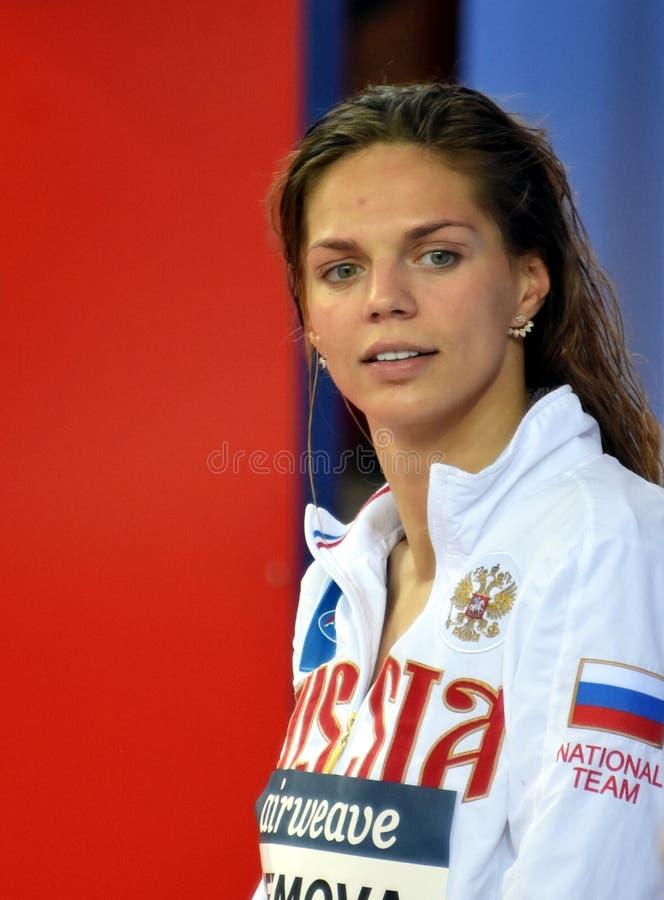 Nuotatore Yulia YEFIMOVA RUS del campione del mondo e di olimpionico fotografia stock