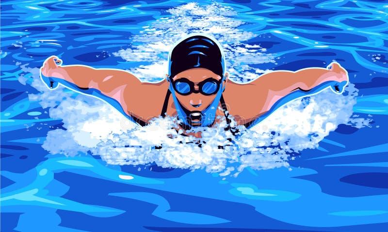 Nuoto royalty illustrazione gratis