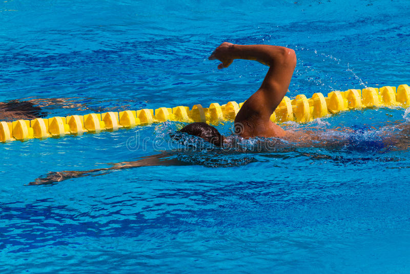 Nuoto - immagine di riserva fotografia stock libera da diritti