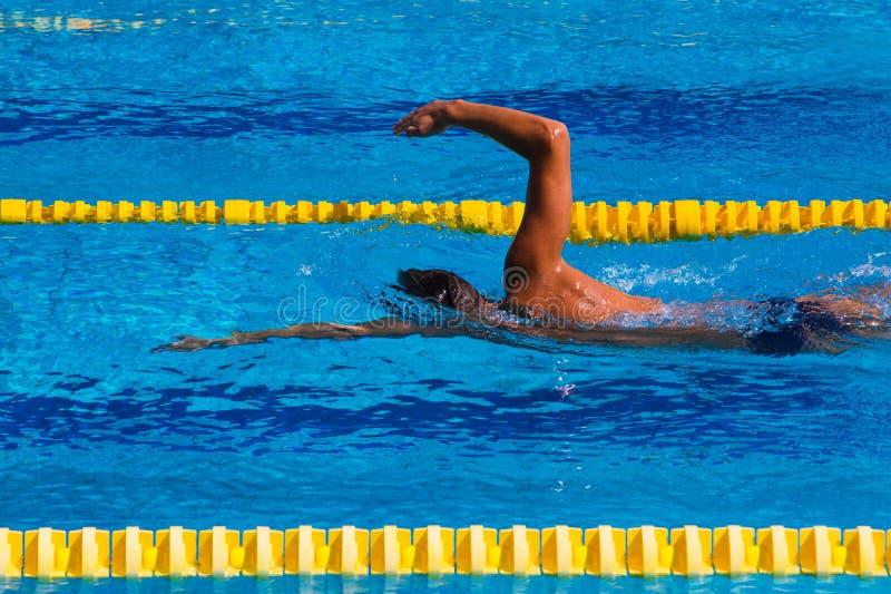 Nuoto - immagine di riserva immagini stock libere da diritti