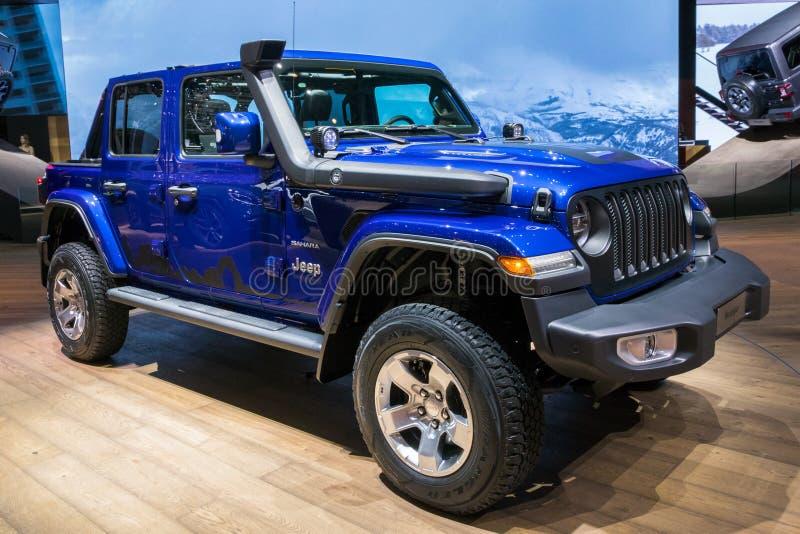 Nuova automobile 2018 di Jeep Wrangler Sahara 4x4 immagini stock libere da diritti