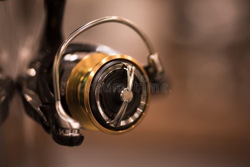 Nuova bobina da pesca immagini stock
