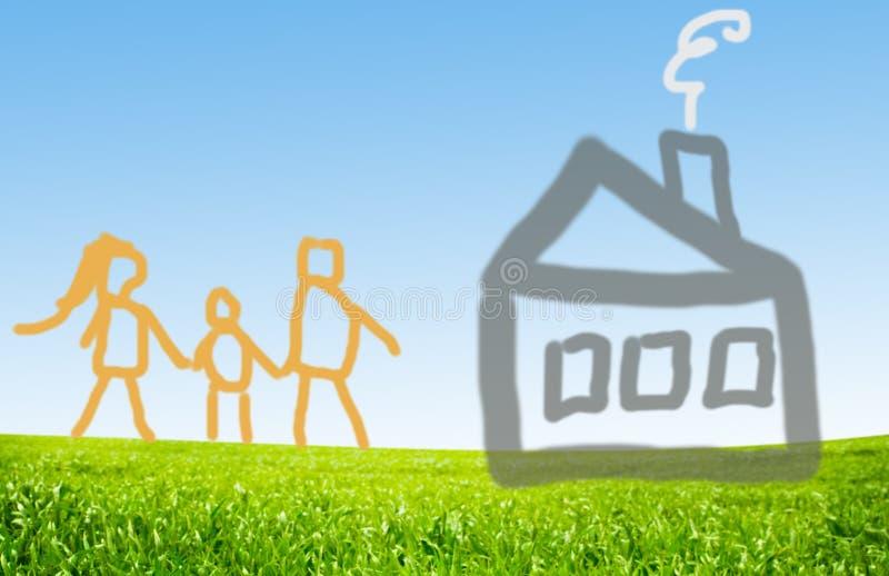 Nuova casa illustrazione di stock illustrazione di for Nuova casa coloniale in inghilterra