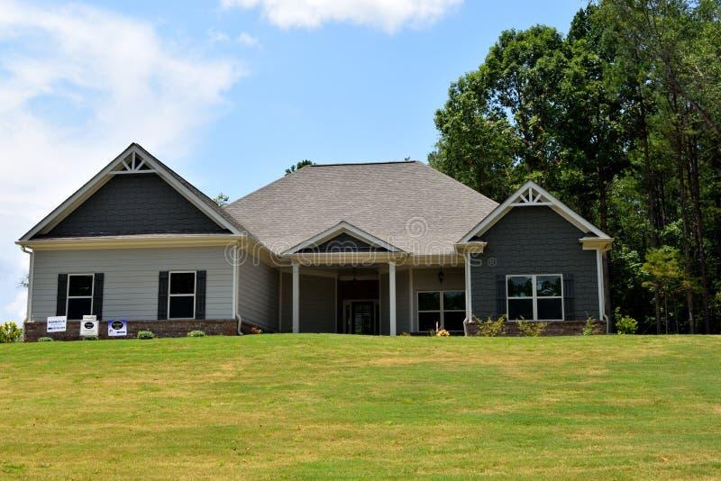 Nuova casa in Bogart Georgia immagini stock libere da diritti