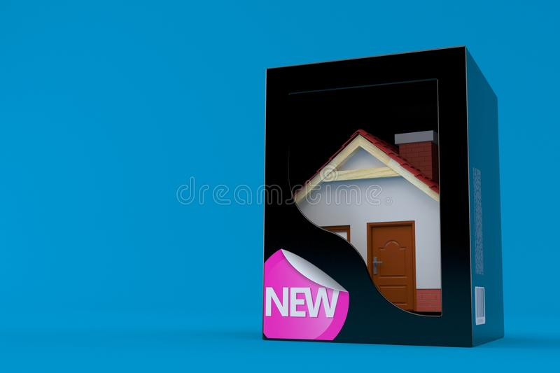 Nuova casa dentro la scatola nera royalty illustrazione gratis