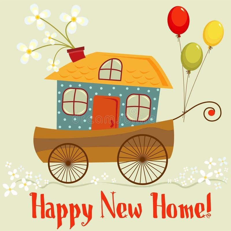 Nuova casa felice illustrazione vettoriale illustrazione for Nuova casa coloniale in inghilterra