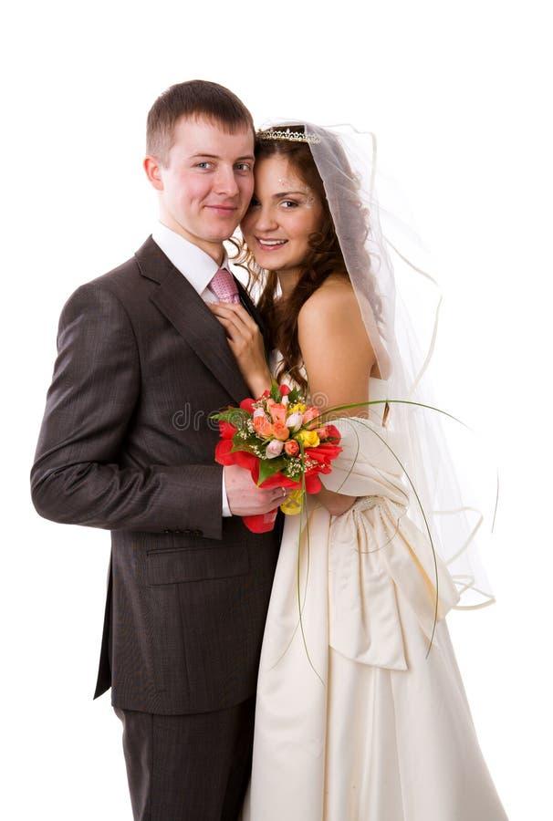 Nuova coppia sposata fotografie stock