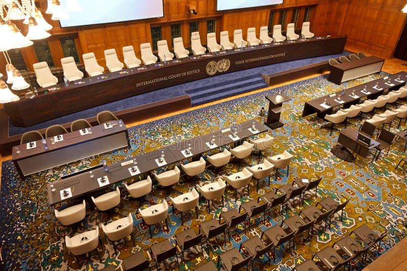Nuova corte internazionale di giustizia Courtroom fotografie stock libere da diritti