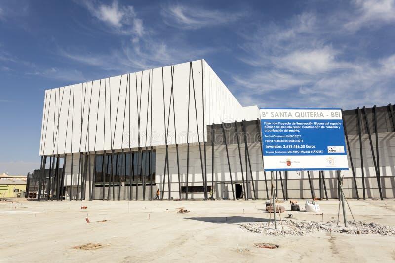 Nuova costruzione del centro di convenzione a Lorca, Spagna fotografia stock libera da diritti