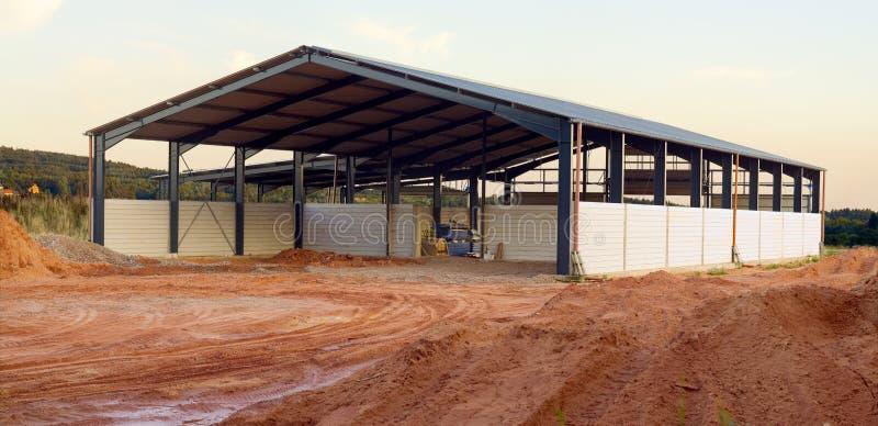 Nuova costruzione di agricoltura fotografia stock