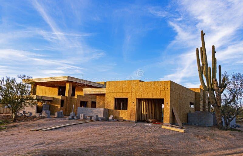 Nuova Costruzione Di Case In Arizona fotografia stock