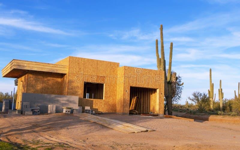 Nuova Costruzione Di Case In Arizona fotografia stock libera da diritti