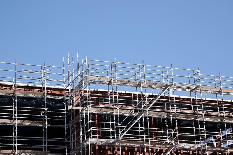 Nuova costruzione di edifici e costruzione fotografia stock
