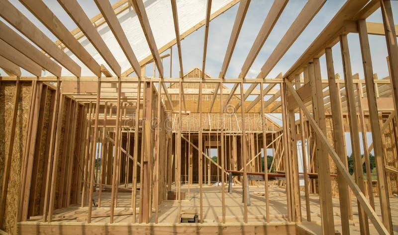 Nuova costruzione domestica fotografia stock