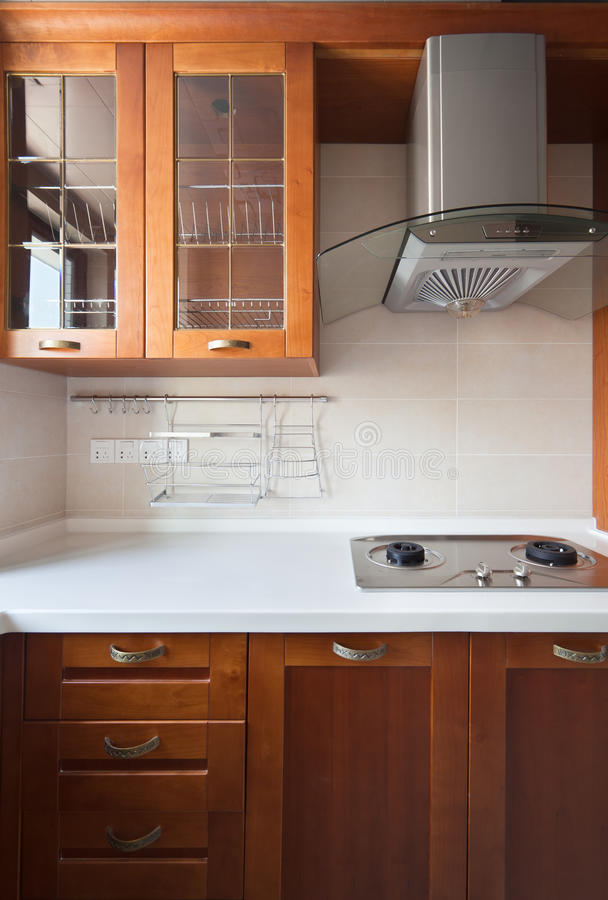 Nuova cucina moderna fotografia stock