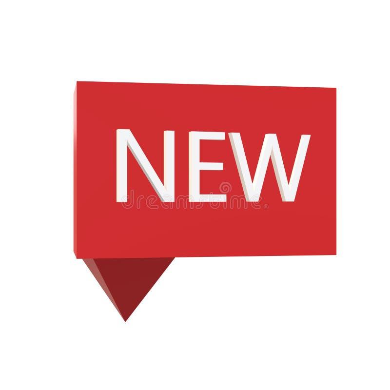 nuova icona 3d con l'orologio su fondo bianco Stile piano 3d nuova icona per la vostra progettazione del sito Web, logo, app, UI  illustrazione vettoriale