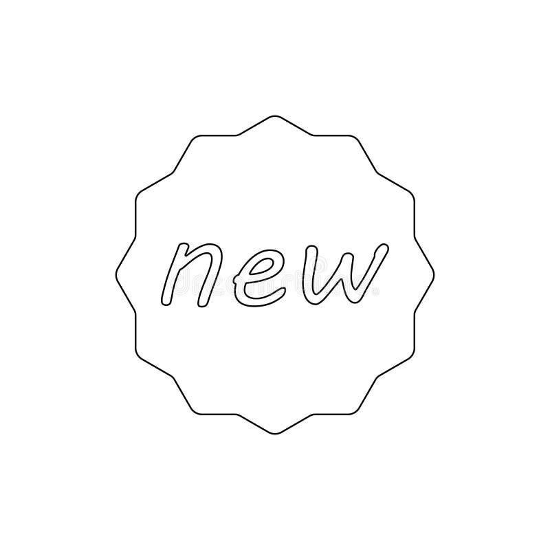 Nuova icona del profilo del distintivo I segni ed i simboli possono essere usati per il web, logo, app mobile, UI, UX illustrazione di stock