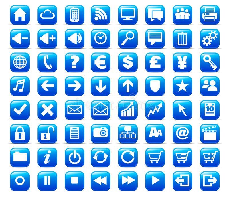 Nuova icona del tasto del Internet di media e di Web royalty illustrazione gratis