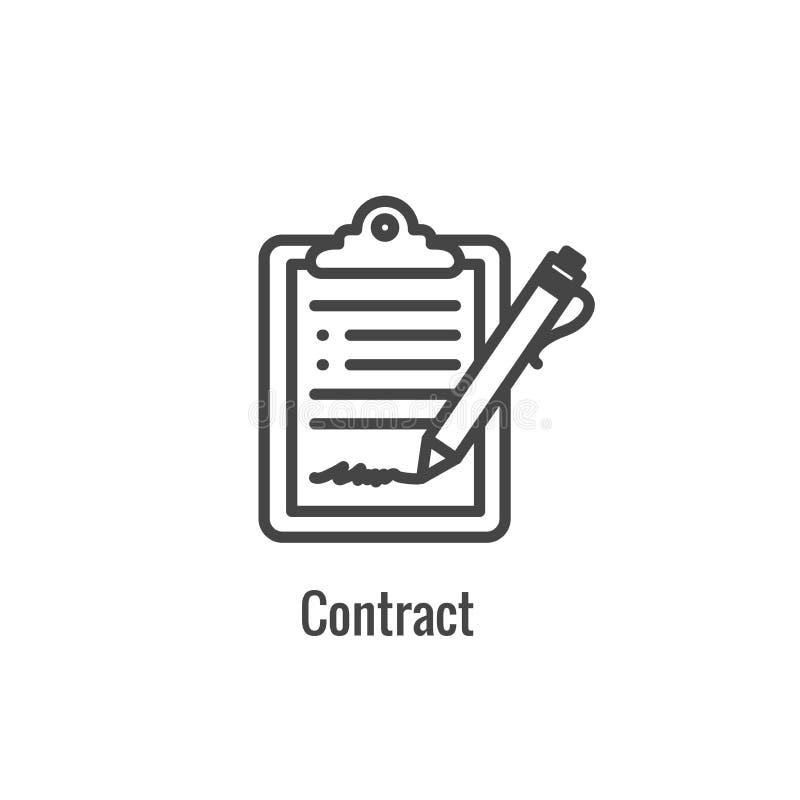 Nuova icona di processo aziendale | Fase di firma del contratto illustrazione vettoriale
