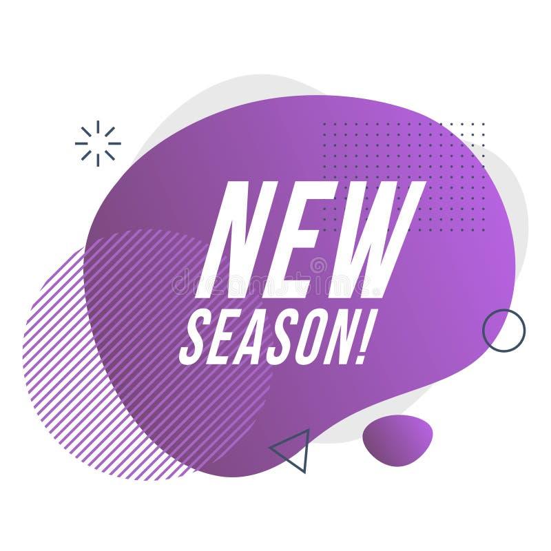 Nuova icona di stagione Illustrazione di vettore illustrazione di stock