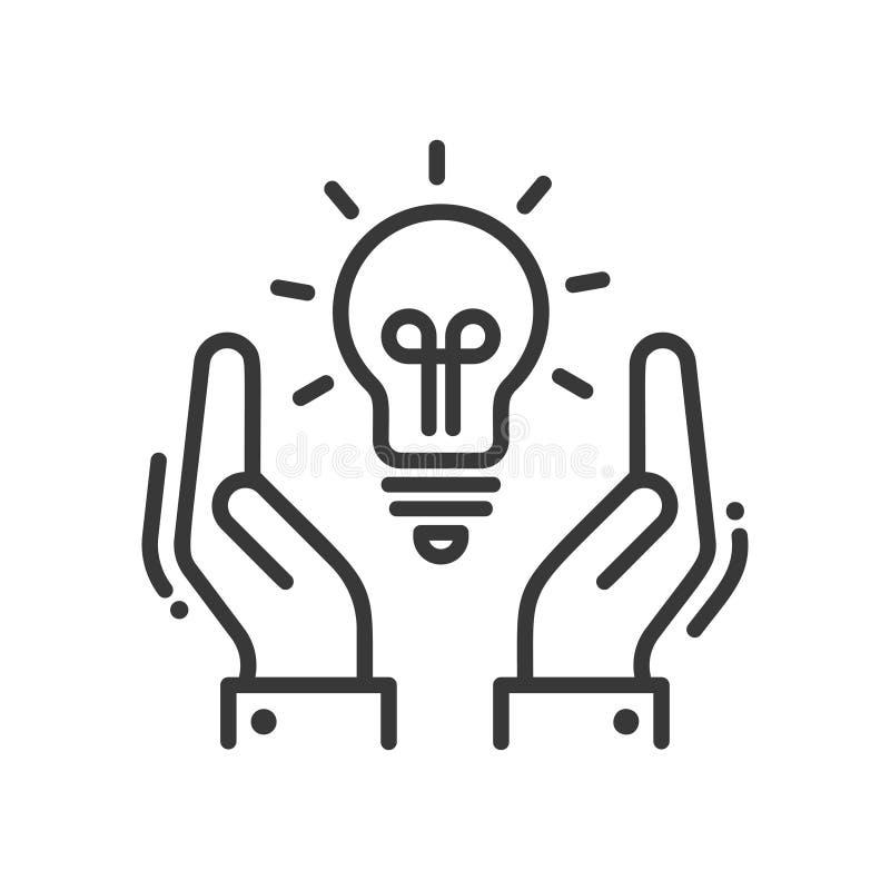 Nuova idea o concetto - vector la linea moderna icona di progettazione illustrazione vettoriale
