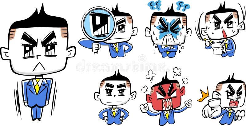 Nuova illustrazione 2 degli impiegati del sangue caldo comico illustrazione vettoriale
