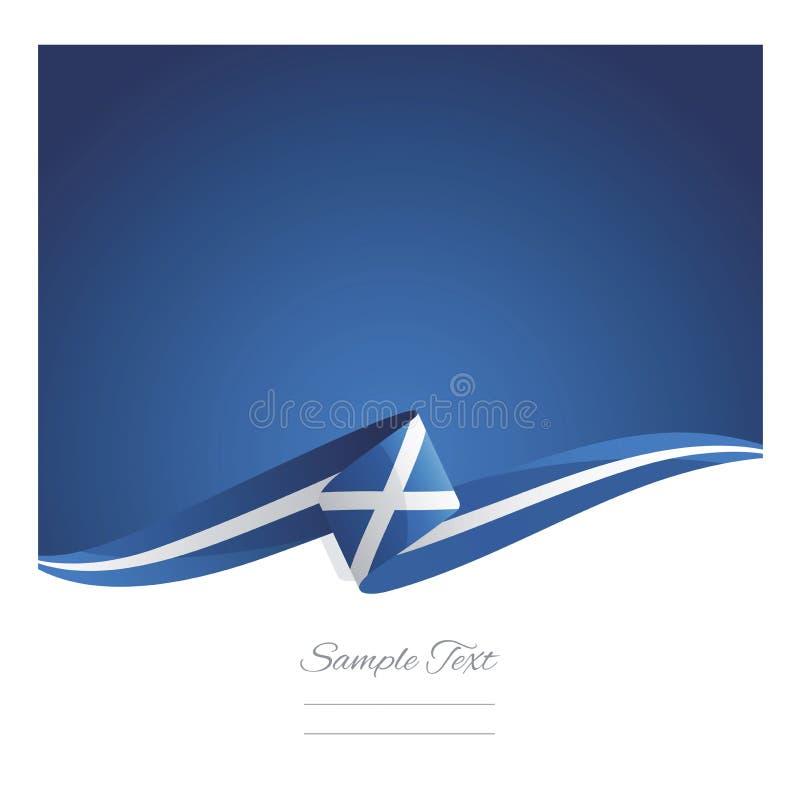 Nuova insegna astratta del nastro della bandiera della Scozia royalty illustrazione gratis