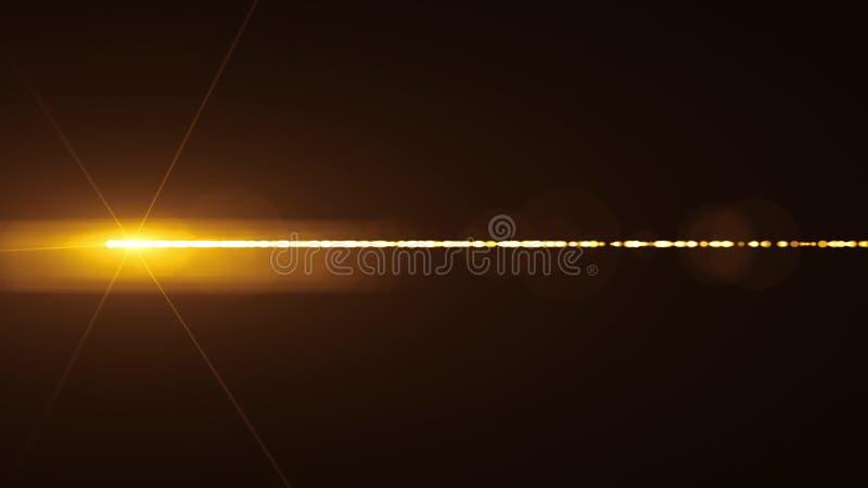 Nuova lampada di accensione naturale di qualit? delle luci laser della lente ottica dei chiarori del bokeh dell'illustrazione del fotografie stock libere da diritti