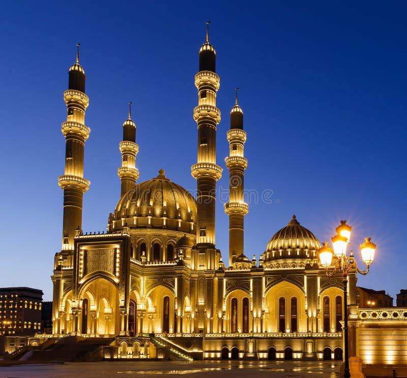 Nuova moschea a Bacu fotografia stock libera da diritti