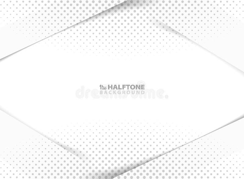 Nuova progettazione astratta di tecnologia della decorazione di semitono grigia su fondo bianco e grigio Vettore eps10 dell'illus illustrazione di stock