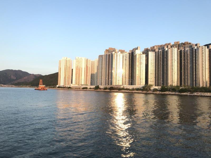 Nuova proprietà pubblica nell'area di novità di Tung Chung fotografia stock