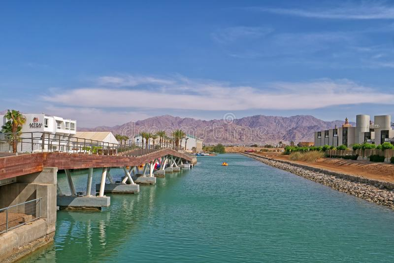 Nuova regione della laguna di Eilat, Israele fotografia stock